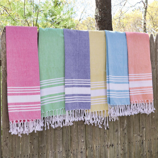 Woven Stripe Towel - 6 Colors