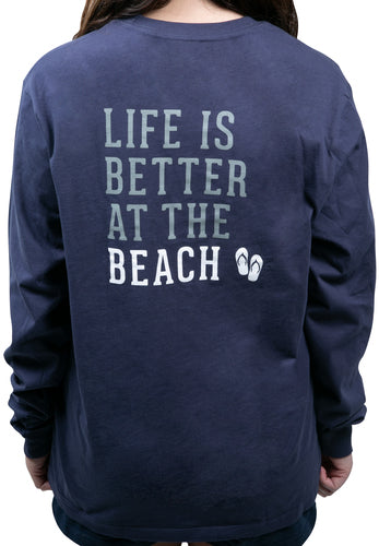 Beach People Long Sleeve T-Shirt - Navy
