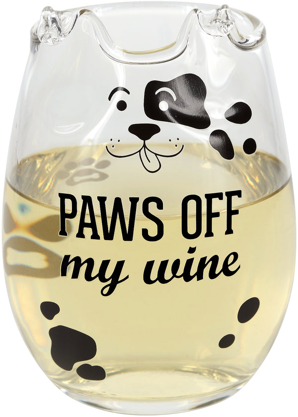 18 oz Dog Stemless Wine Glass - 2 Sayings