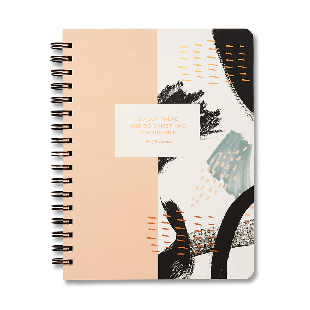 Spiral Notebook Journal with Quote - 2 Styles