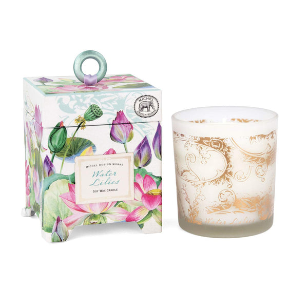 Michel Design Works 6.5 oz Soy Wax Candle, Water Lilies