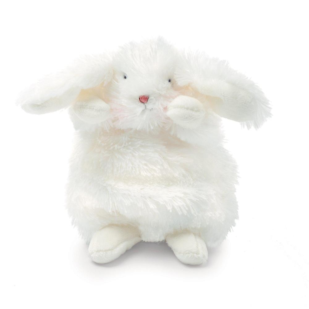 Wee Ittybit Bunny with Grey Face Mask - White