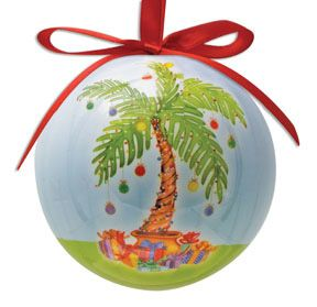 Palm Tree Ball Ornament