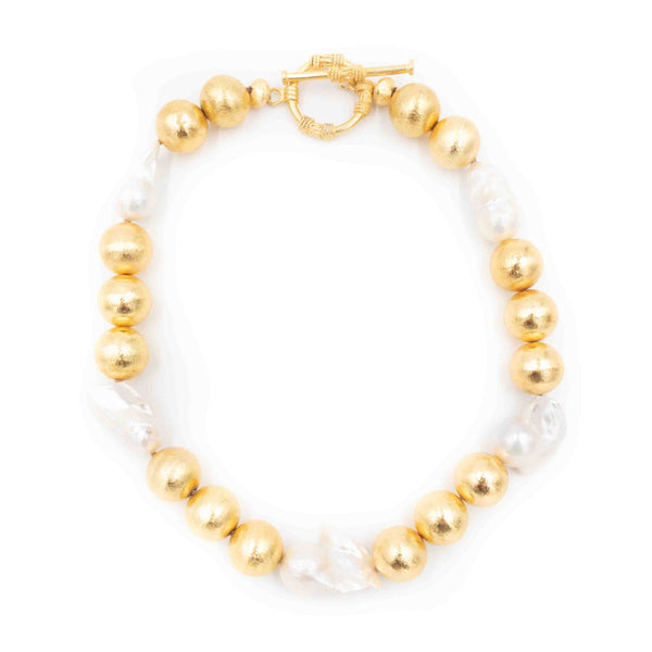 Annabelle Necklace with Glorious Beads and Pearls
