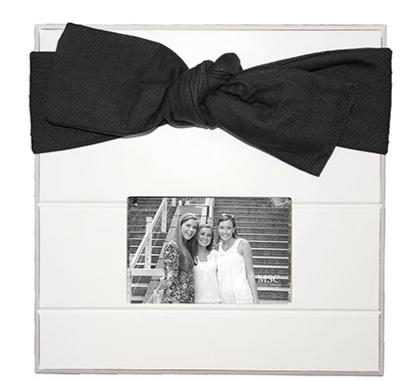 Shiplap Black Bow picture Frame with Monogram