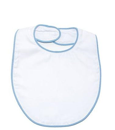 Blue Piping Bib- with Monogram