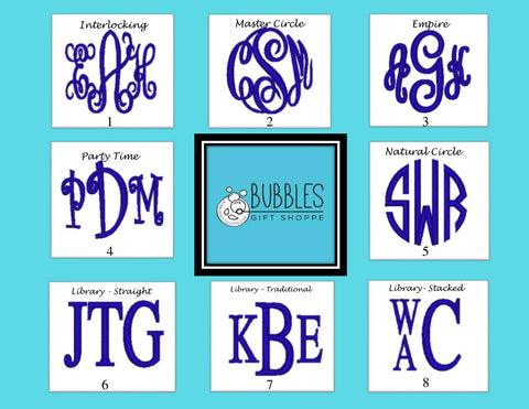 Bubbles Full Name Monogramming $12.00