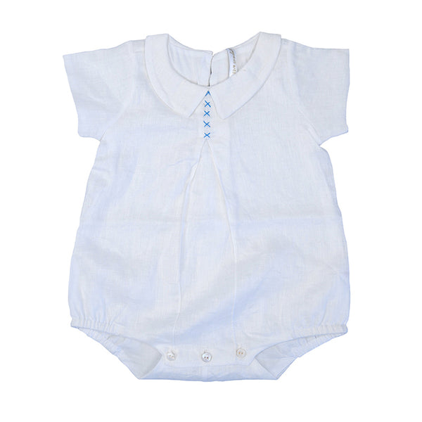 Organic Linen Boy Bubble - Baby - New Arrival