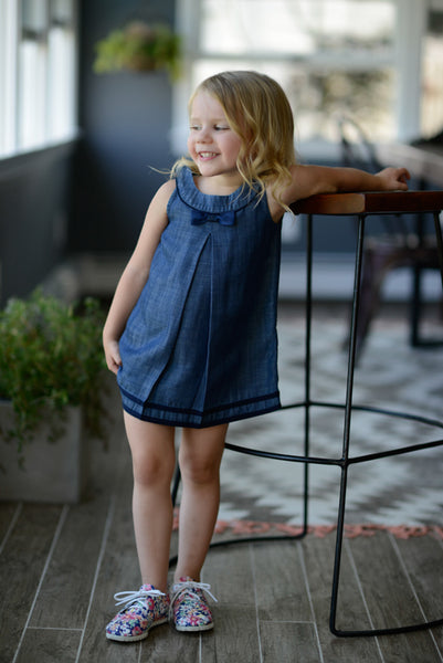 Margaret Tencel Bow Dress- Kids