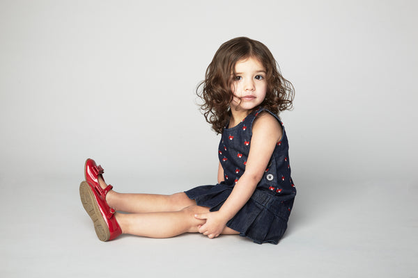 Olivia Denim Toddler Dress