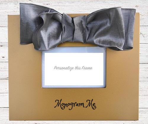 Chiffon Bow Frame - 3 Colors Home Goods- with Monogram - Bubbles Gift Shoppe