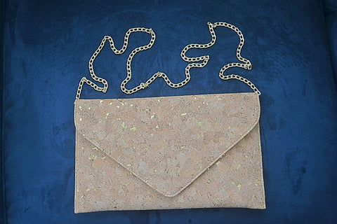Stunning Cork Clutch and Shoulder Bag - Bubbles Gift Shoppe