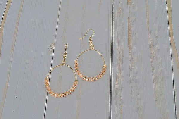 Crystal Delicate Hoop Earrings- 5 colors - Bubbles Gift Shoppe