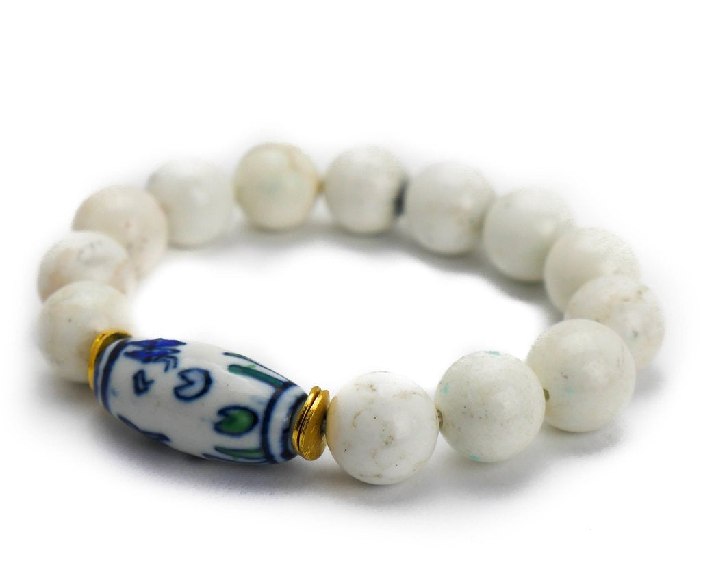 DANIELLE BEAD AND CERAMIC BRACELET