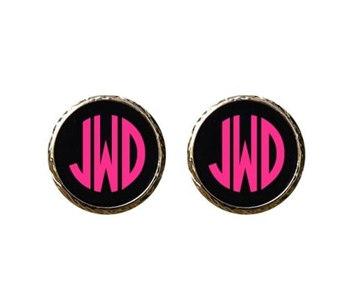 Enamel Earrings- Monogrammed