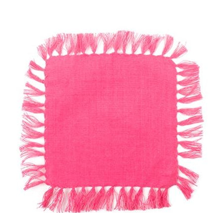 Fringe Cocktail Napkins- 4 in set- Many colors