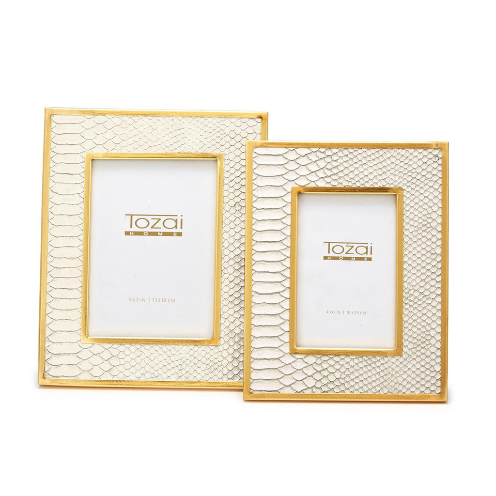 Python White Picture Frames- 2 Sizes