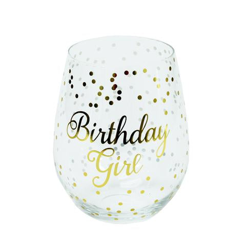 Birthday Girl Stemless Glass - Home Goods - Bubbles Gift Shoppe