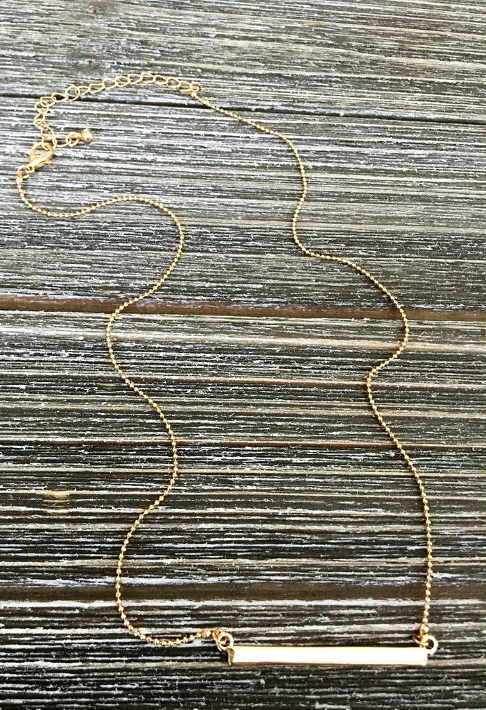 Gorgeous Gold Bar Necklace 16