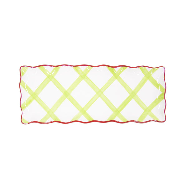 Holiday Rectangle Gingham Platter