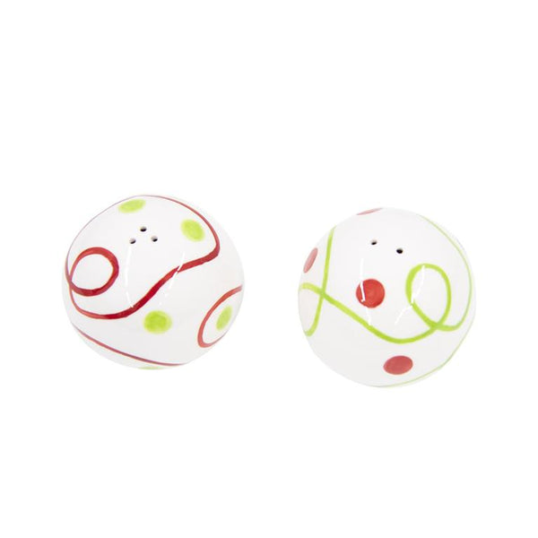 Holiday Swirl Salt and Pepper Shaker Set