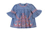 Everly Flare Embroidered Toddler Dress