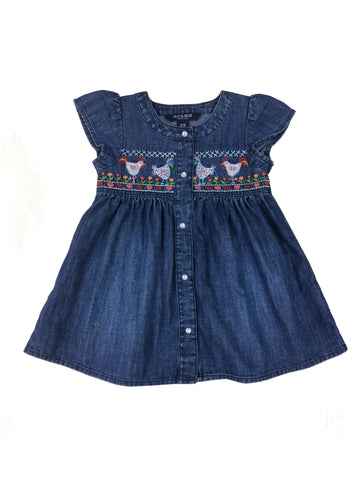 Helena Smocked Hen Toddler Dress