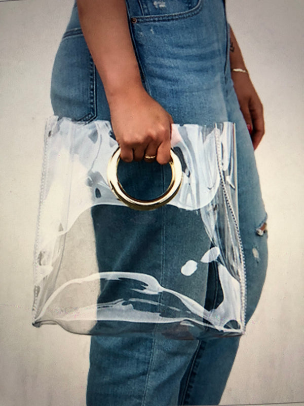 Clear Circle Fashion Stadium Bag (Monogram available)