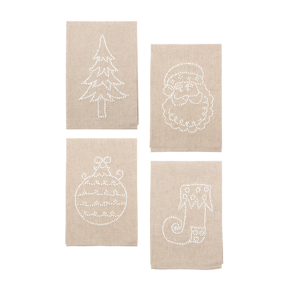 Holiday Knot Linen Icon Towels - 4 Styles