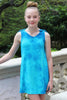 Tie Shoulder Tie Dye Dress in Blue or Turquoise