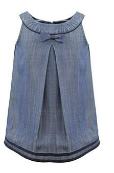 Margaret Denim Bow Toddler Dress