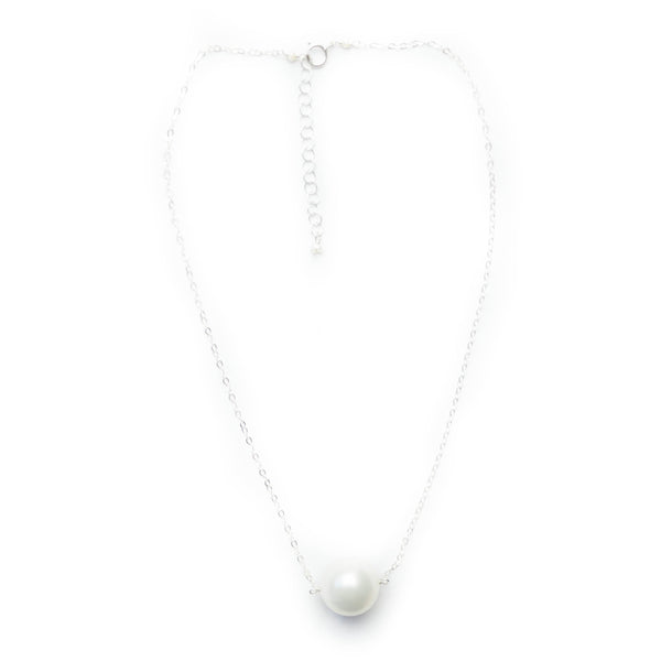 Augusta Pearl Necklace with Silver or Gold Chain