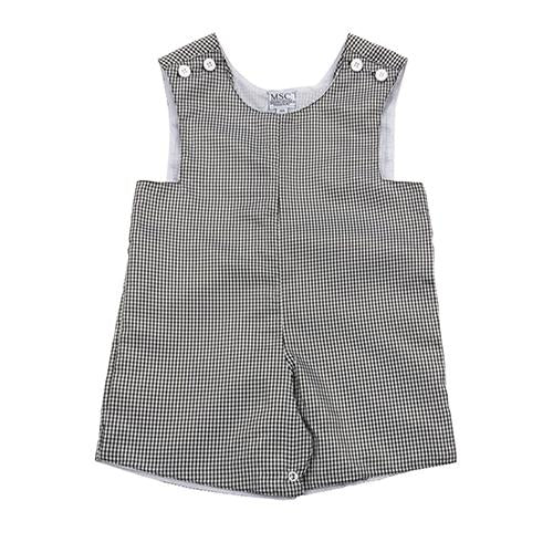 Toddler Gingham Short All with Monogram