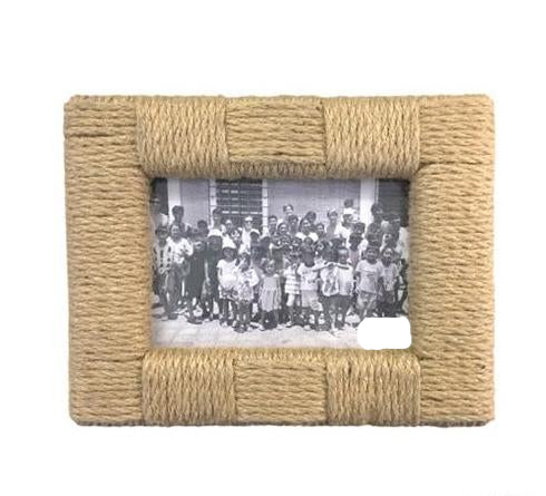 Rope Picture Frame: 5X7 or 4X6 -Rectangle