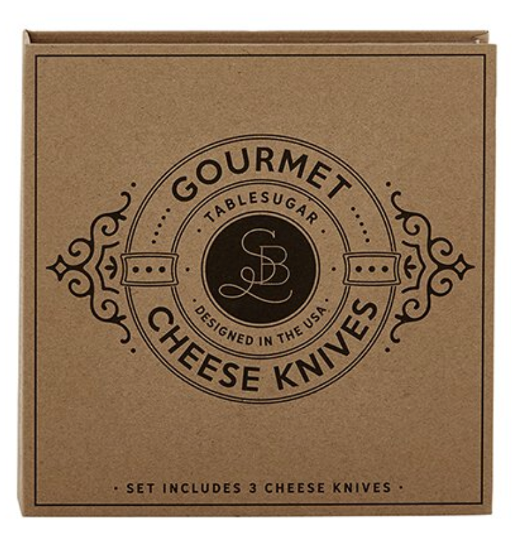 Gourmet Cheese Knives - Cardboard Book Set