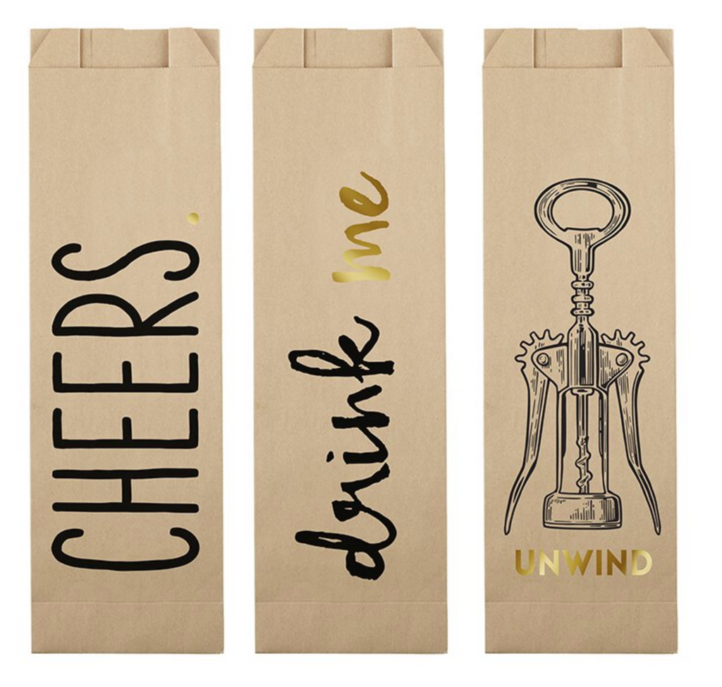 PAPER WINE BAGS - CHEERS ASSORTMENT