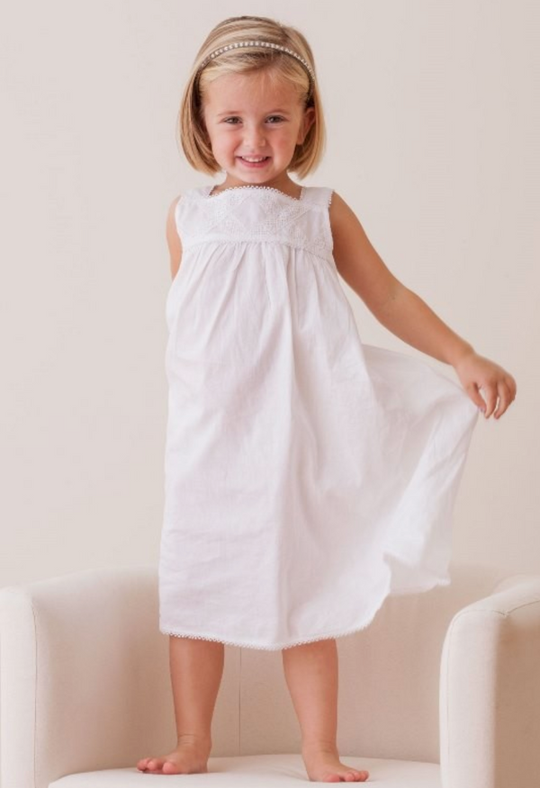 Chelsea White Cotton Dress