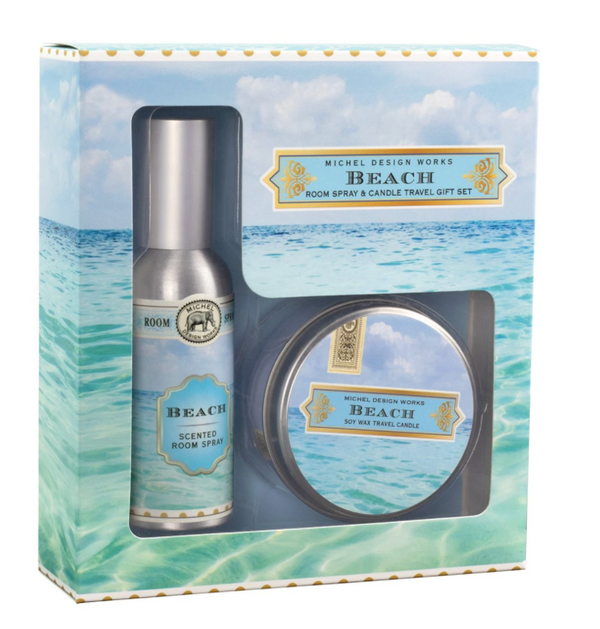 Beach Room Spray and Candle Travel Gift Set