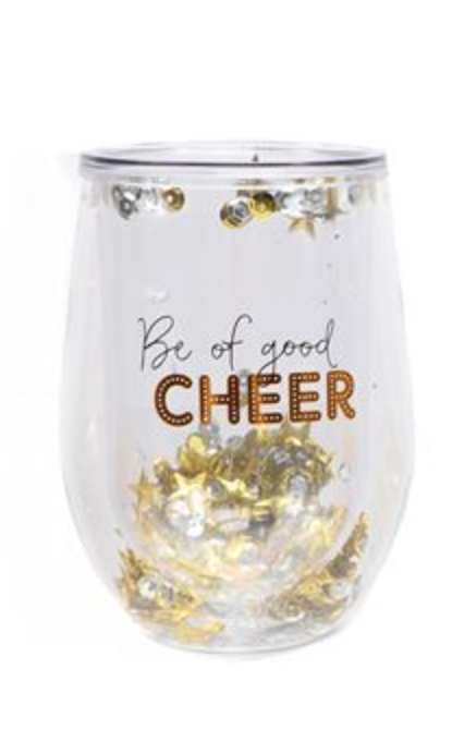 Holiday Sayings Double Wall Stemless Glass