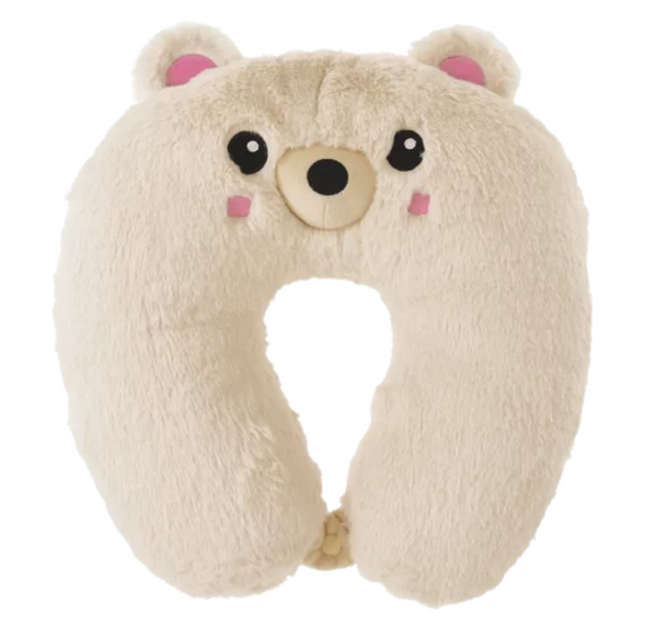 Bear Furry Neck Pillow