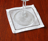 4.5 in. x 4.5 in. White Linen Napkin/Coaster