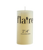 Ivory Flaire pillar candles by Creative Co-op, 2 sizes