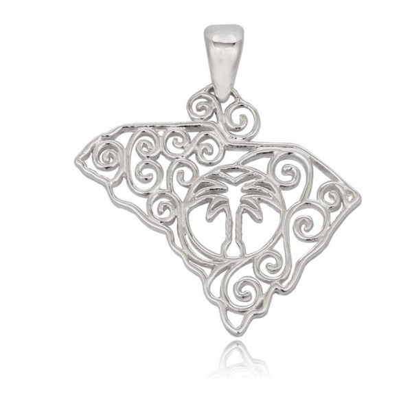 Southern Gates® Small South Carolina State Pendant
