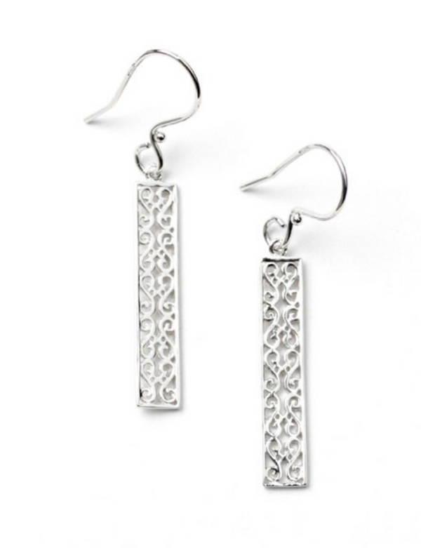 Southern Gates Rhodium Plated Balcony Earring