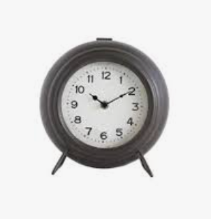 Black Metal Mantel Clock