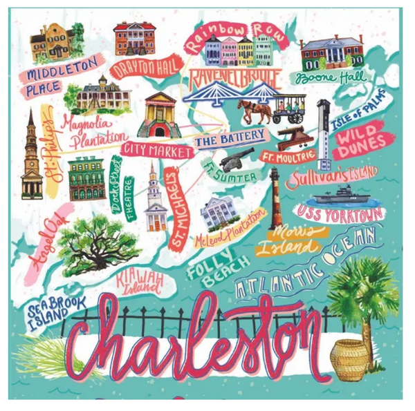 Charleston Icon Map Puzzle