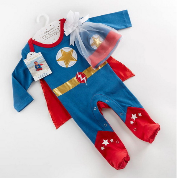 "Big Dreamzzz"""" Baby Superhero 2-Piece Layette Set - Boy"
