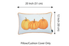 Fall Season Thanksgiving Pumpkins Lumbar Pillow COVER 12x20""