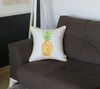 "Tropical Pinapple Square 18"" Throw Pillow COVER"