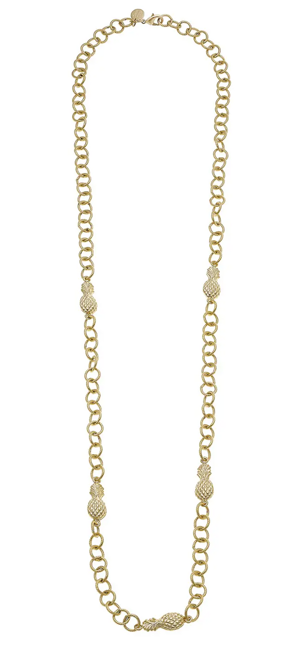 LINKED PINEAPPLE CHAIN NECKLACE